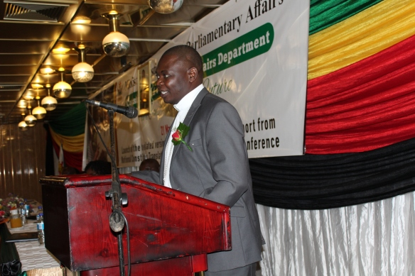 Bishop Rudolf Nyandoro at the launch of the translated versions of the constitution.JPG