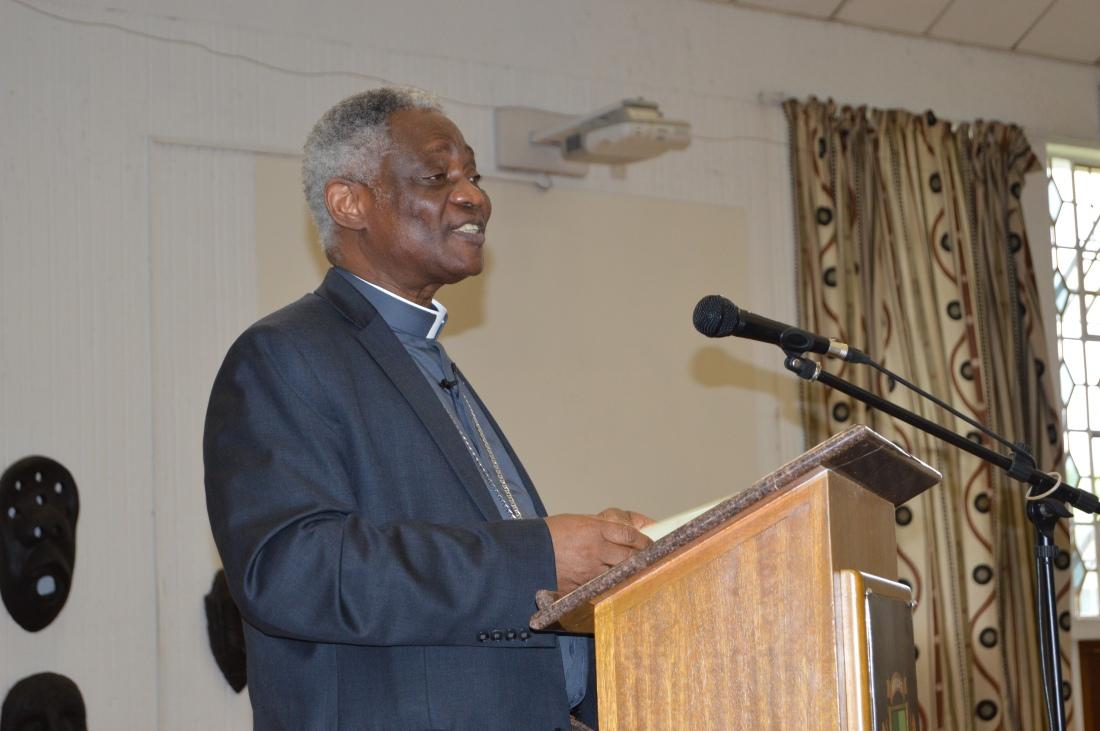 Cardinal Peter Turkson addressing Catholics in Harare on Laudato Si.JPG