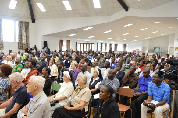 People pay attention during a lecture on Laudato Si that was presented by Cardinal Turkson.JPG