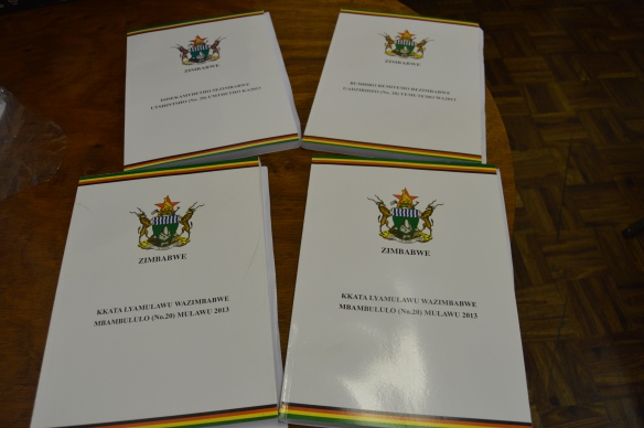 Zimbabwe Constituion was translated into four venacular languages..JPG