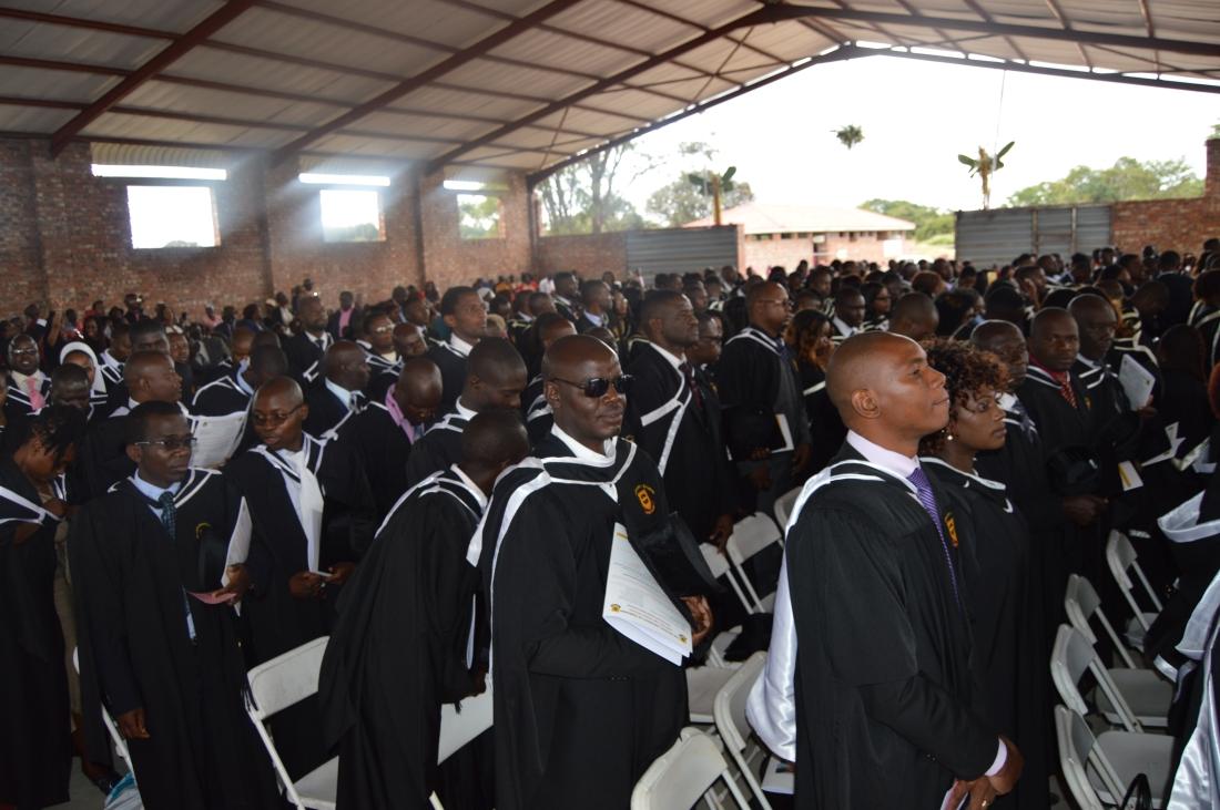 Catholic University graduands waiting to be capped during the Uiversity's 2018 graduation.JPG