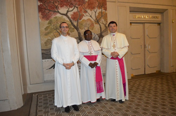 Archbishop Marek Zalewski (right) has been appointed to Singapore and Monsignor Gabriel Pesce Left will be the charge d'affaires..JPG