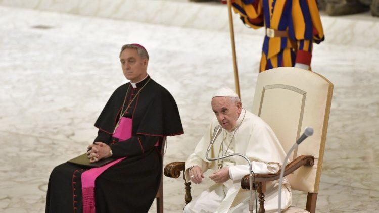 Pope Francis address religious