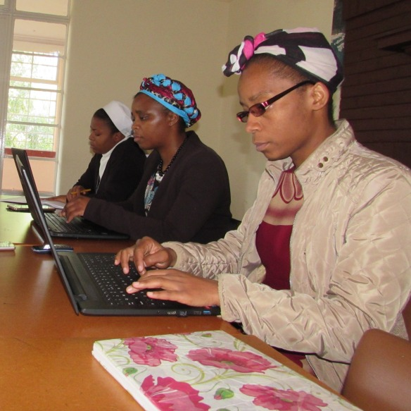 Serious business as some students of the formation programme take notes from a lecture by Fr. Mark Chikuni CSsR..jpg