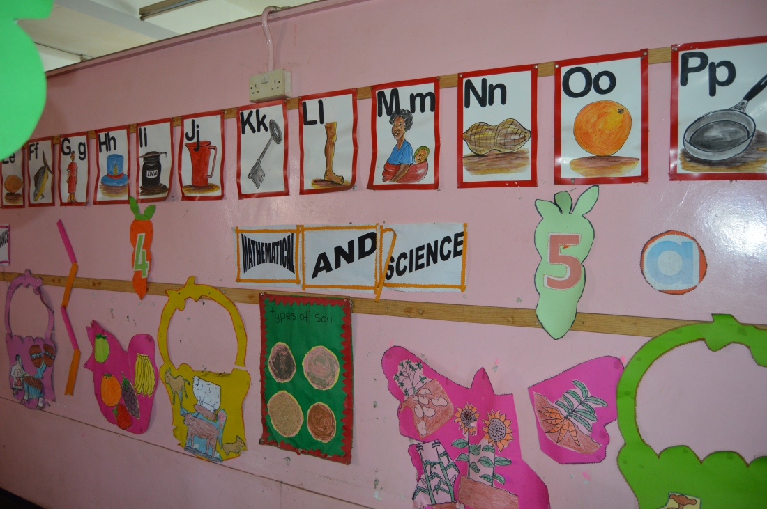 One of the classrooms at Nenyere Day Care Centre.