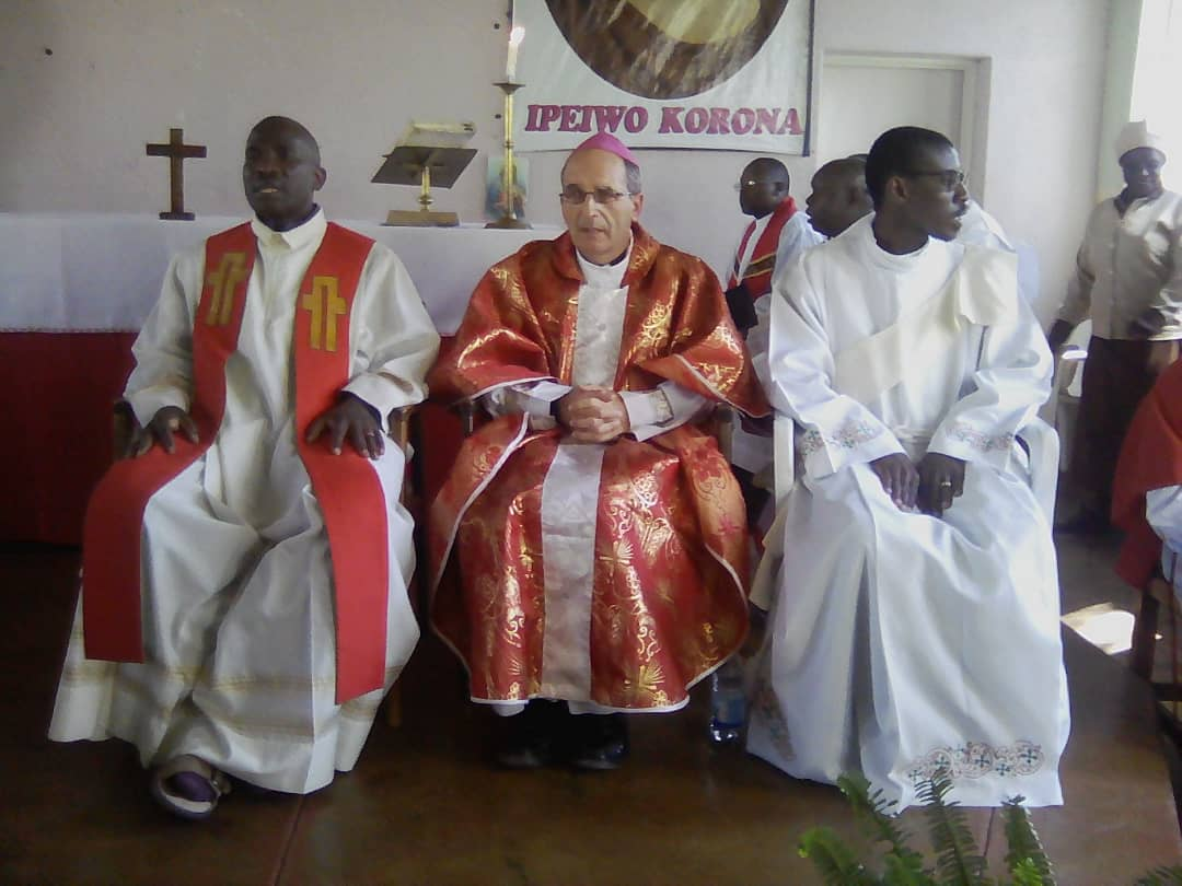 Bishop Paul Horan of Mutare Diocese at the Hand over of St. Richards by the Archdiocse of Harare
