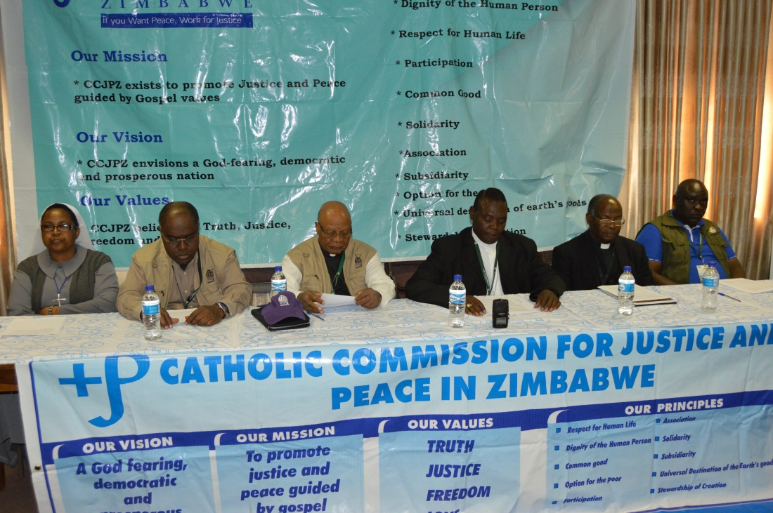 The Zimbabwe Catholic Bishops' Conference giving an overview of the elections in the country today..JPG