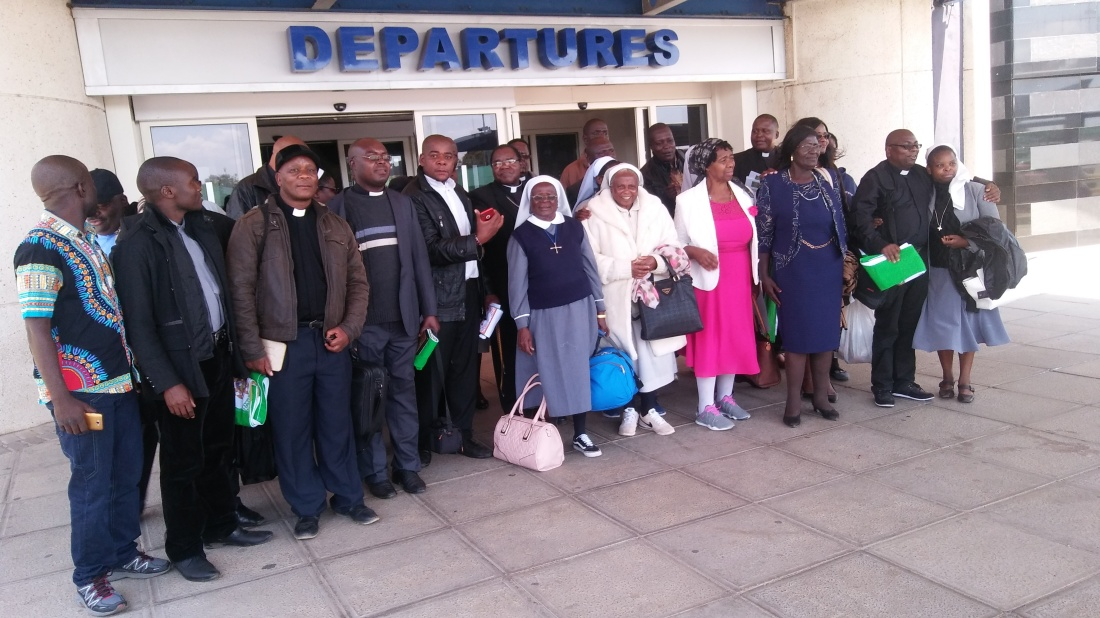 Gweru Diocese priests and nuns on a pilgrimage to Israel.