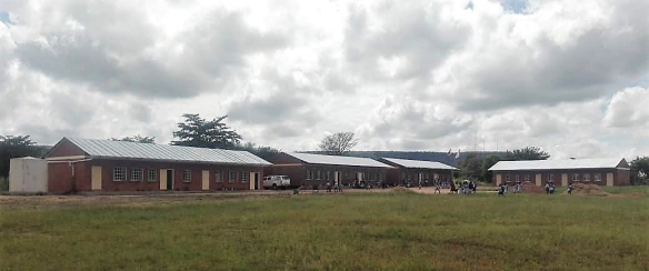 The newly constructed St. Claret Primary School under Zhomba Mission which is steadily growing to benefit children in Gokwe North.