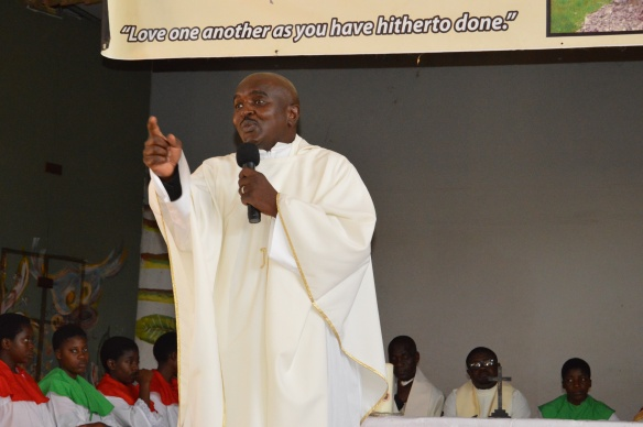 Fr. Gasa preaches during mass to mark the tercentenary of Nano Nagle at Nagle House.