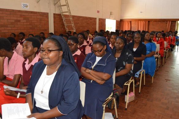 Sisters foloows proceedings during amss to mark the tercentenary of Nano Nagle