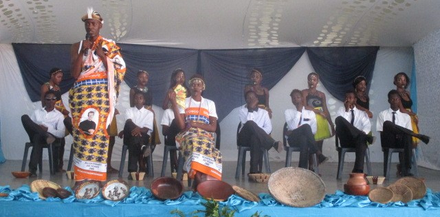 Youths perfom at the all stakeholders meeting at Don Bosco