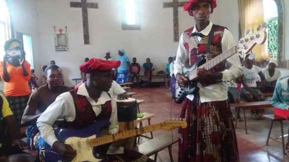 In Zambia they use guitars and drums. St. John Makwa was taught to blend drums with other instruments in liturgical celebrations.