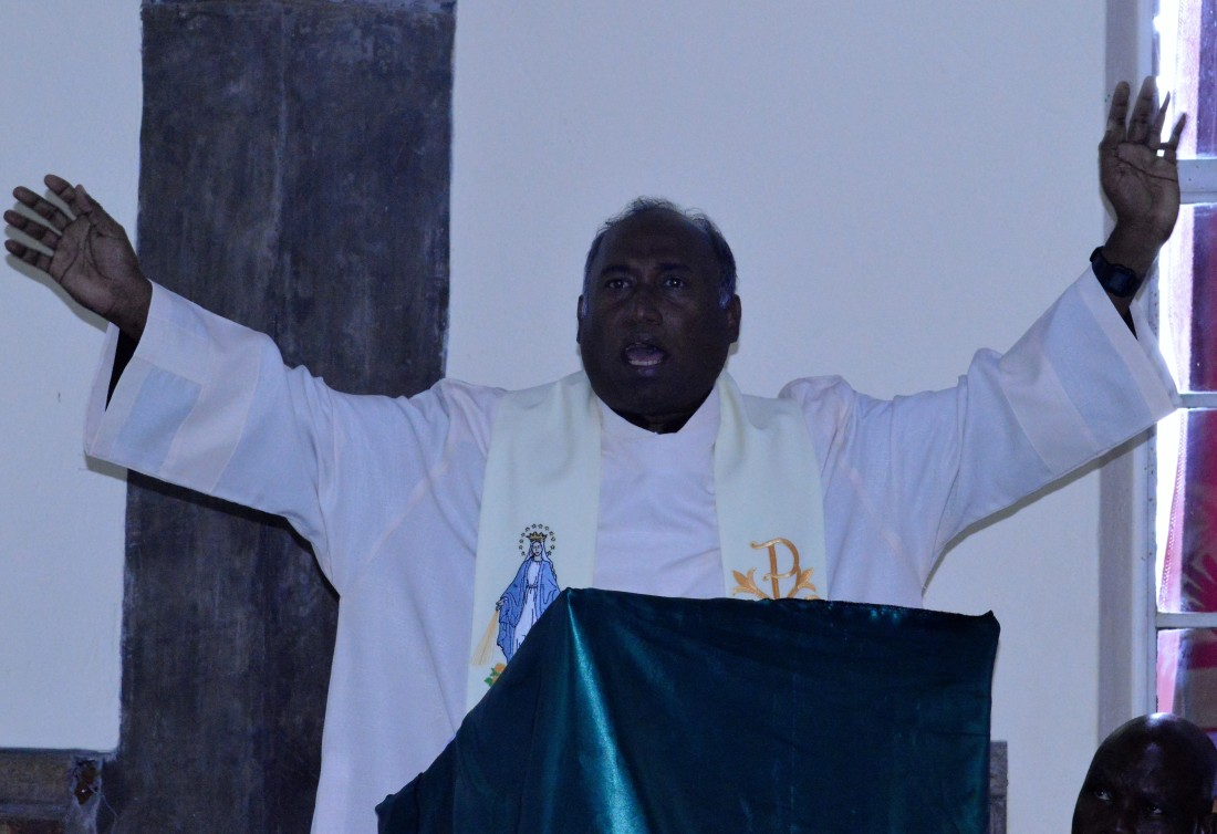Fr. Peter preaches at the religious open day held at regina Mundi in Gweru.