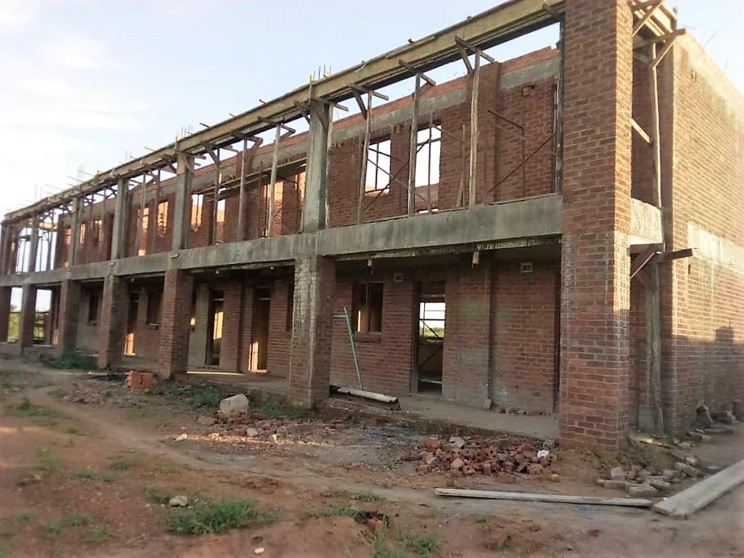 One of the blocks for Maryward Secondary School taking shape in Kwekwe.