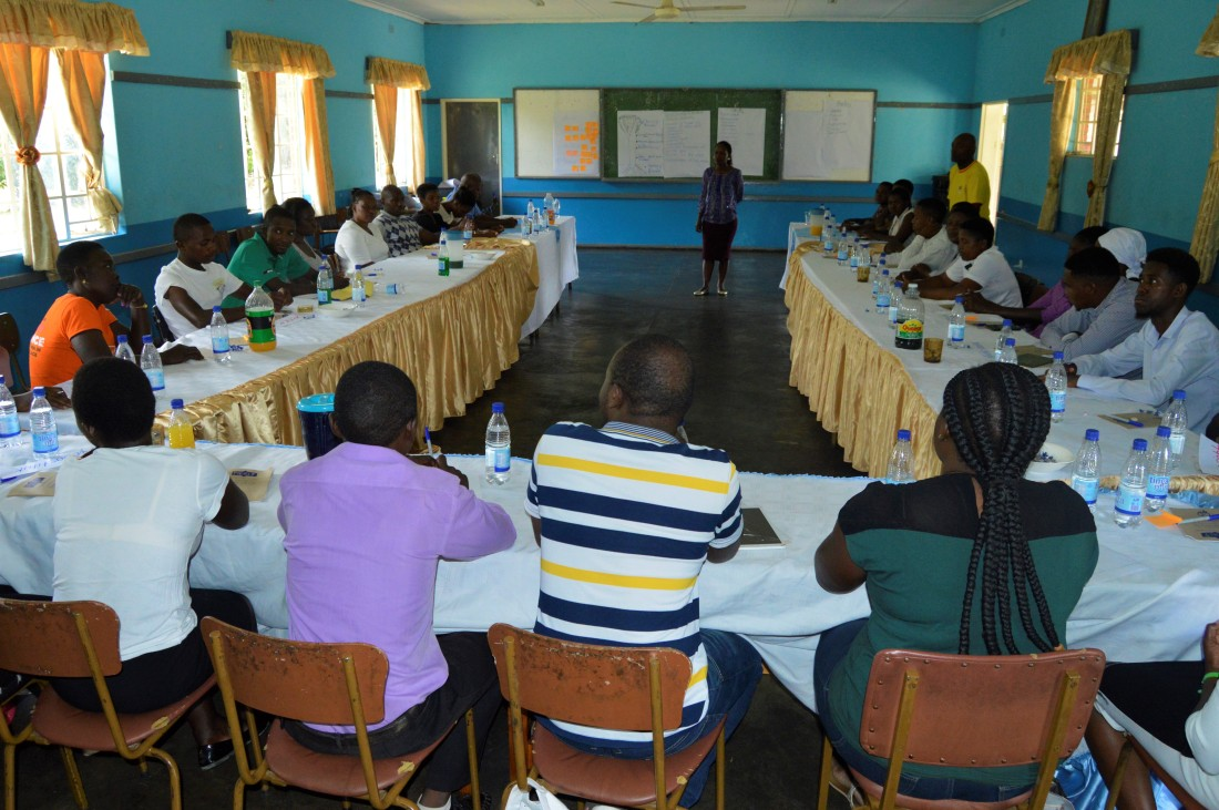 A CCJP Official takes Peace Ambassadors thorugh some lessons on conflict resolution.