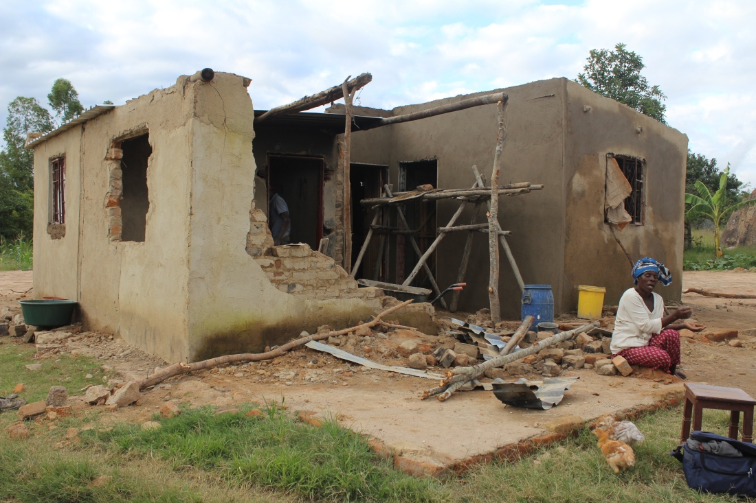 Many people were left homeless as their houses, crops and livestock were destroyed by Cyclone Idai.