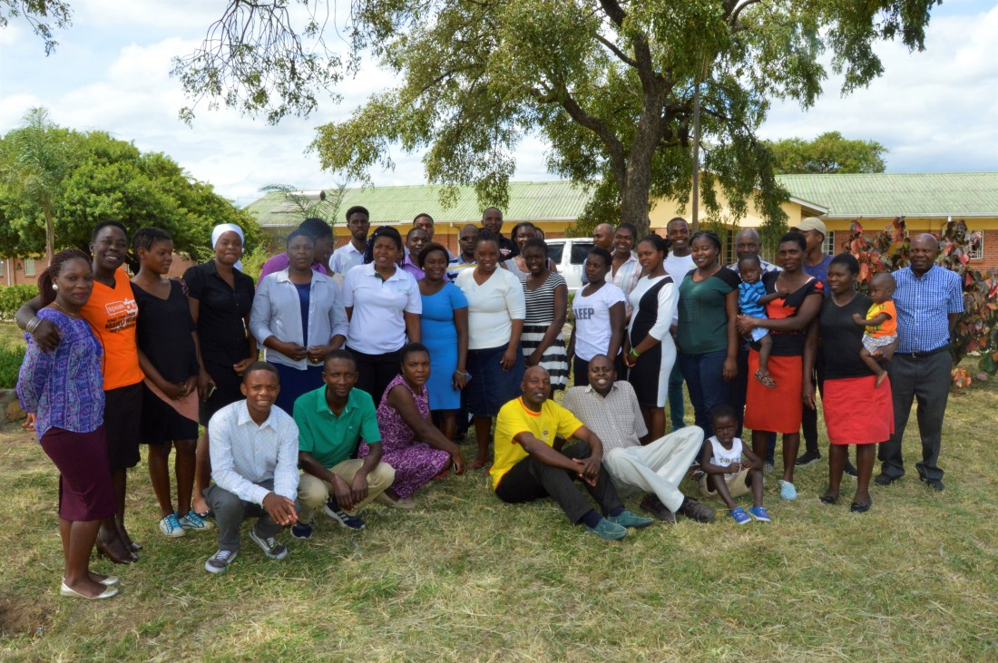 Peace Ambassadors pose for a photo during their training at Matare Diocesan Pastoral Centre.