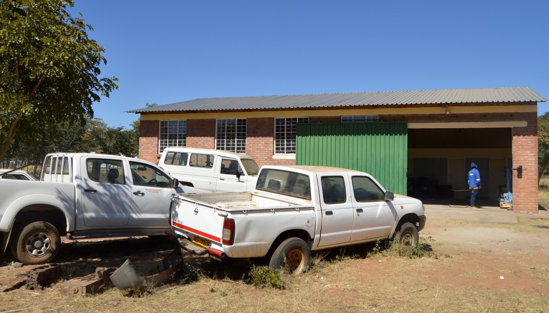The garage build by Gokwe Diocese to service the diocesan fleet.